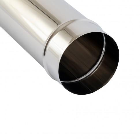 Burlan evacuare gaze arse, inox, 80 x 1000 mm, garnitura etansare inclusa