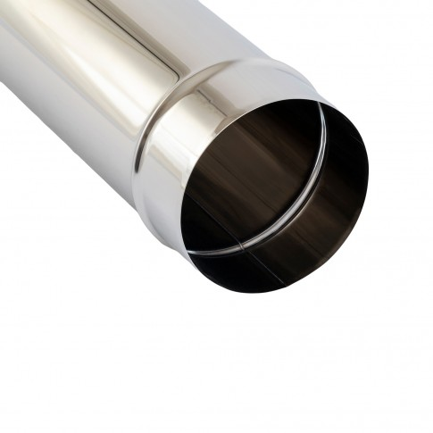 Burlan evacuare gaze arse, inox, 100 x 1000 mm, garnitura etansare inclusa