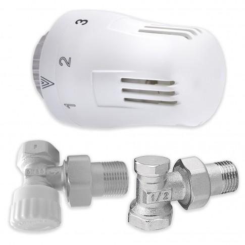 Kit robinet calorifer coltar 1/2 + cap termostatic