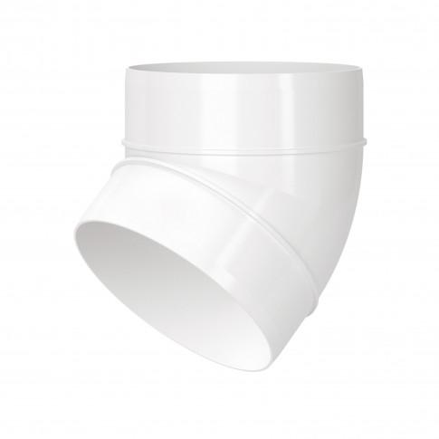 Cot pentru tub ventilatie Vents, alb, PVC, 45 grade, D 100 mm