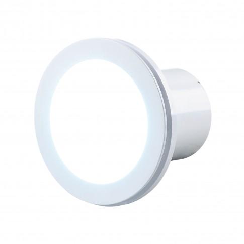 Ventilator cu panou LED Lumis Vents, alb, plastic, D 100 mm