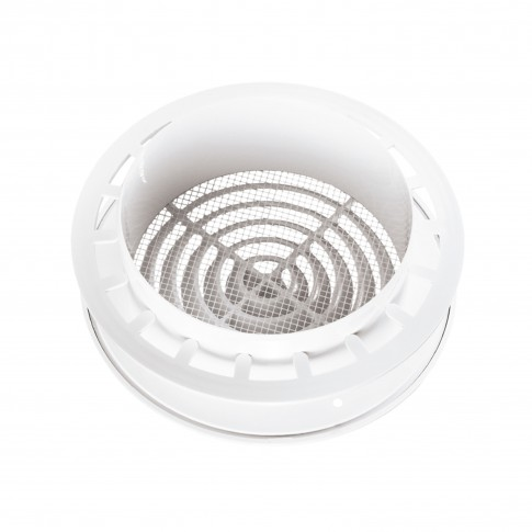 Difuzor aer cu flansa Vents MV 125 PFS, alb, plastic, D 125 mm