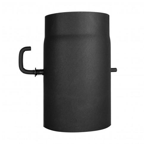 Burlan cu clapeta, otel, negru 120 x 250 mm