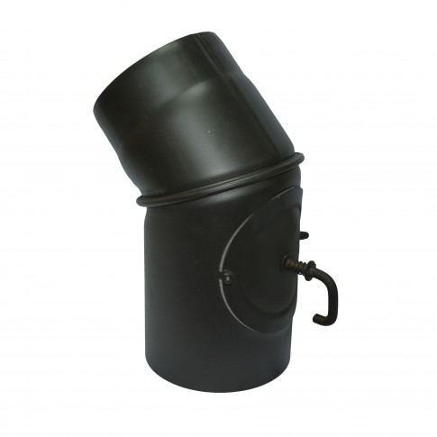 Cot reglabil cu clapeta, otel, negru, 45 grade, 130 mm