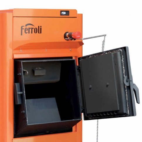 Cazan termic pe brichete, tocatura, Ferroli FSB Pro N 40, cu ardere normala, din otel, 40 kW