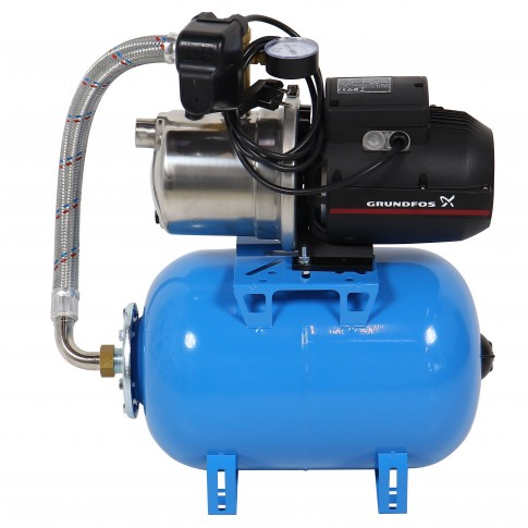 Hidrofor cu pompa electrica centrifuga Grundfos JP 4 - 54 + rezervor 24 L + presostat + manometru + furtun flexibil + racord, 1130 W
