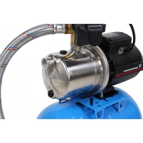 Hidrofor cu pompa electrica centrifuga Grundfos JP 4 - 47 + rezervor 24 L + presostat + manometru + furtun flexibil + racord, 850 W