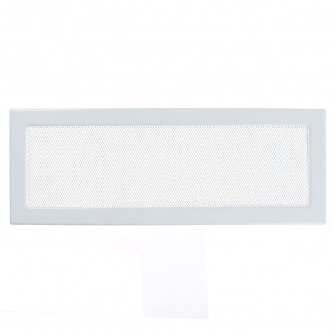 Grila semineu Haco LKM, metalica, alb, 480 x 170 mm