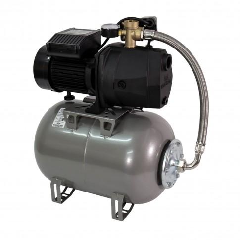 Hidrofor Wasserkonig W3600-42/25H, cu pompa autoamorsanta din fonta + vas 24 L + presostat + manometru + furtun flexibil + racord 5 cai, 800W