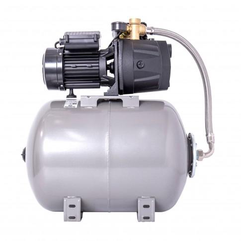 Hidrofor Wasserkonig W4100-45/50H, cu pompa autoamorsanta din fonta + vas 50 L + presostat + manometru + furtun flexibil + racord 5 cai, 950W