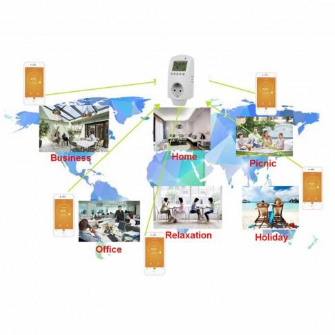 Priza cronotermostat Ama 16, programabila, TPS Wi-Fi