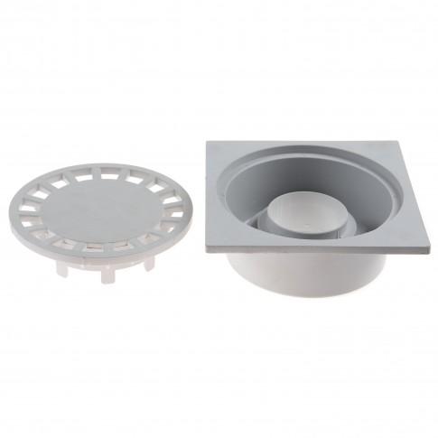 Sifon terasa, PP, Basic, 150 x 150 mm,  SPP150150