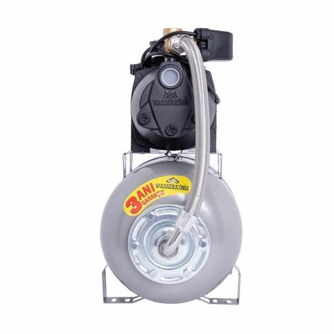 Hidrofor Wasserkonig W3300-45/25H, cu pompa autoamorsanta din fonta + vas 24 L + presostat + manometru + furtun flexibil + racord 5 cai,  850W