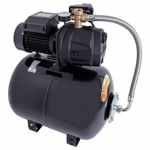 Hidrofor Wasserkonig W5000-54/50H, cu pompa autoamorsanta din fonta + vas 50 L + presostat + manometru + furtun flexibil + racord 5 cai, 1300W