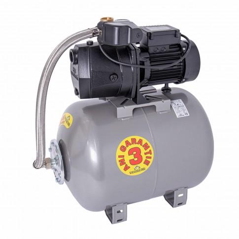 Hidrofor Wasserkonig W3800-41/50H, cu pompa autoamorsanta din fonta + vas 50 L + presostat + manometru + furtun flexibil + racord 5 cai, 850W