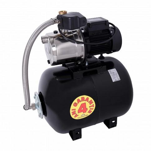 Hidrofor Wasserkonig WX4200-46/50H, cu pompa autoamorsanta din inox + vas 50 L + presostat + manometru + furtun flexibil + racord 5 cai, 1000W