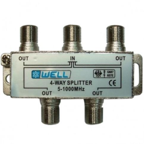 Distribuitor semnal TV, 4 iesiri, SPLT-FC/4-WL-BW