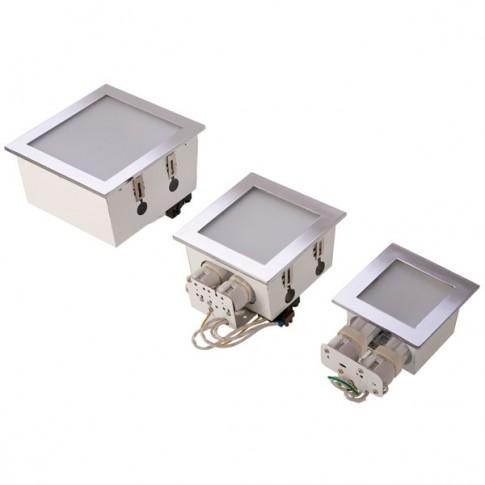 Corp iluminat Xsquare G24D-3/PLC NM SQ03 NM, 2 x 26W, incastrat, IP40