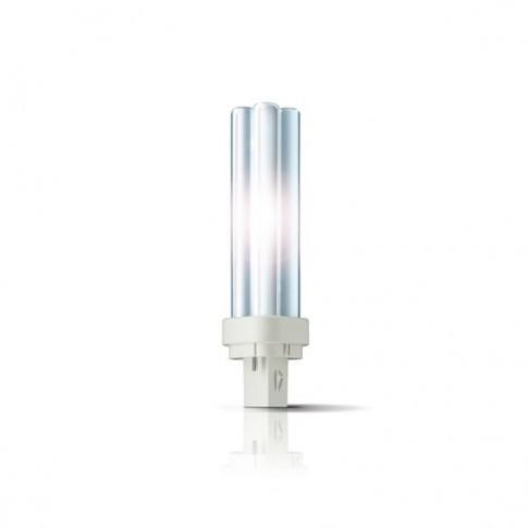 Bec economic G24d-2 Philips Master PL-C 4P 18W lumina calda