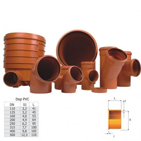 Dop PVC cu inel, DN 200 mm