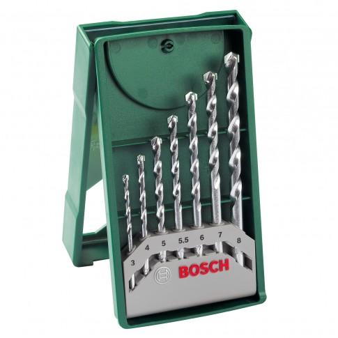Burghie pentru piatra, Bosch, 2607019581,  3 - 8 mm, set 7 bucati