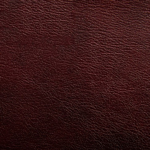 Taburet Ulise fix, rotund, imitatie piele maro inchis, 40 x 40 x 45 cm