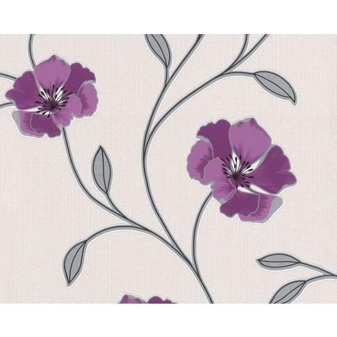 Tapet hartie, model floral, AS Creation Pandora 292438, 10 x 0.53 m