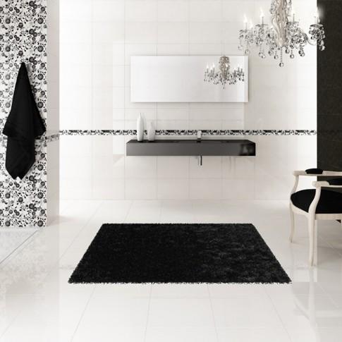 Decor faianta baie / bucatarie Ciragan lucios alb 25 x 50 cm