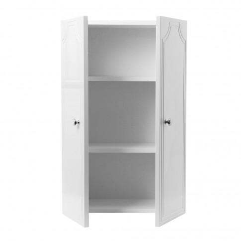 Dulap baie suspendat, P 45 - A2, 2 usi, alb, 45 x 70 x 21 cm