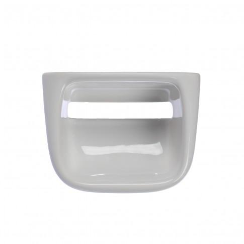Suport pentru hartie igienica, 4627, fara clapeta, alb, 19 x 14.5 cm