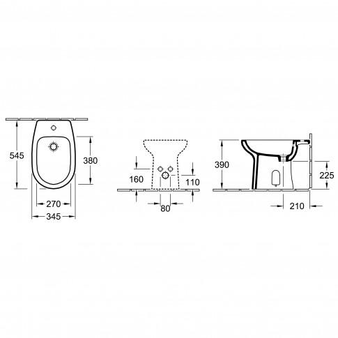 Bideu Mondial Basic 43109001, 34.5 x 39 x 54.5 cm
