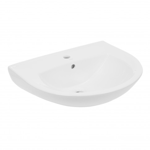Lavoar Kadda Keops R04-035, alb, rotunjit, 60 cm