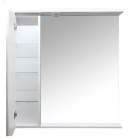 Dulap baie cu oglinda, iluminare si polita, 1 usa, stanga, Arthema Venus SX 131 - IN - A2, alb, 81 x 15.5 x 87 cm