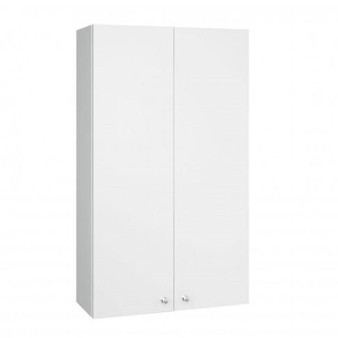 Dulap baie suspendat, 2 usi, alb, 40 x 70 x 17 cm