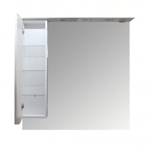 Dulap baie cu oglinda si iluminare, 1 usa, stanga, Arthema Maya 100 441 - IN - A2, alb, 98 x 17.5 x 100 cm