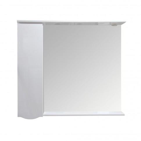 Dulap baie cu oglinda, iluminare si polita, 1 usa, stanga, Arthema Zenith 141 - IN - A2, alb, 98 x 17.5 x 87 cm