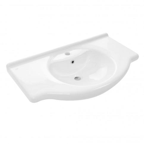 Lavoar Arthema art. 0105, alb, rotunjit, 105 cm