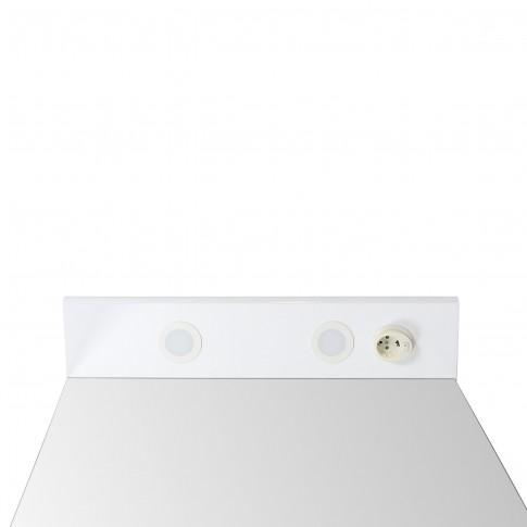 Oglinda baie cu iluminare si polita, Arthema 116 - IN - A2, alb, 65 x 15.5 x 87 cm