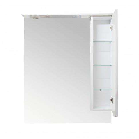 Dulap baie cu oglinda si iluminare, 1 usa, dreapta, Arthema Maya 431 - D - IN - A2, alb, 81 x 15.5 x 100 cm
