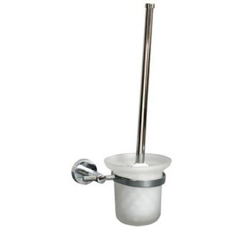 Perie WC Bisk For You BIS01182, suspendat, zinc aluminiu + sticla mata
