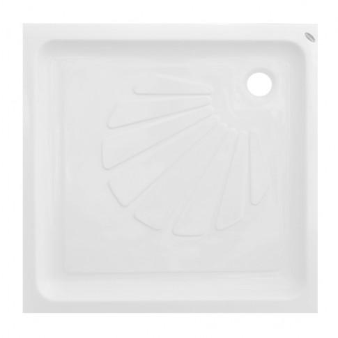 Cadita de dus patrata Martplast, acril, alb, 80 x 80 x 15 cm