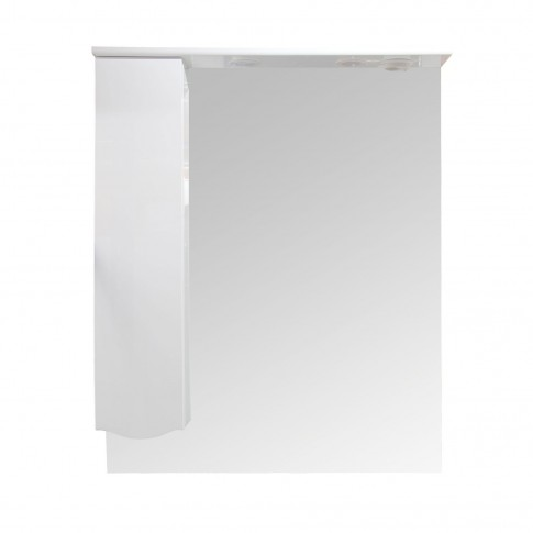 Dulap baie cu oglinda si iluminare, 1 usa, stanga, Arthema Maya 431 - S - IN - A2, alb, 81 x 15.5 x 100 cm