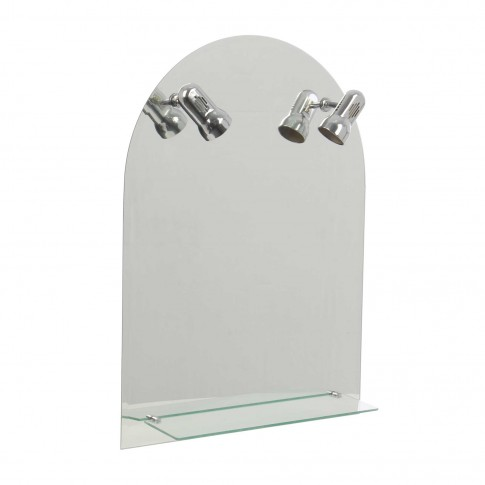 Oglinda baie Class Mirrors O7 - 1, cu iluminare, 60 x 80 cm, 1 etajera