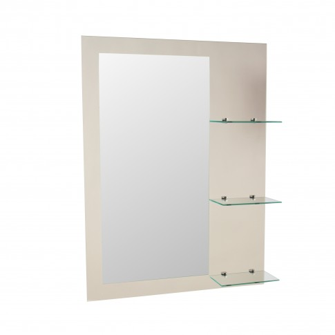 Oglinda baie Class Mirrors O93, 60 x 80 cm, 3 etajere