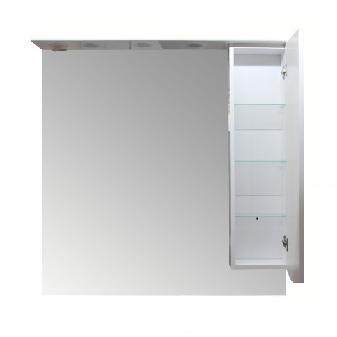 Dulap baie cu oglinda si iluminare, 1 usa, dreapta, Arthema Maya 100 441 -D - IN - A2, alb, 98 x 17.5 x 100 cm