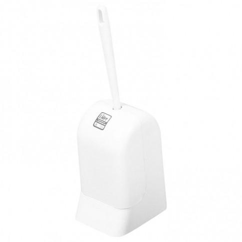 Perie WC Lider Hilal 72, plastic, alb, 14 x 12 x 36 cm