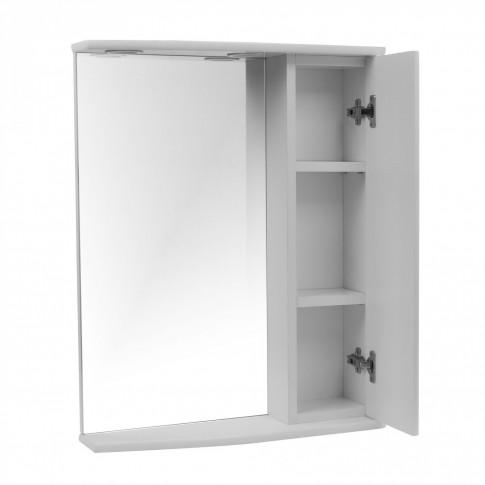 Dulap baie cu oglinda, iluminare si polita, 1 usa, dreapta, Jamaica, 56 x 15 x 73 cm