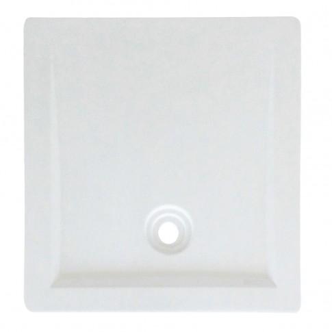Cadita de dus rectangulara West Achille, alb, 100 x 70 cm