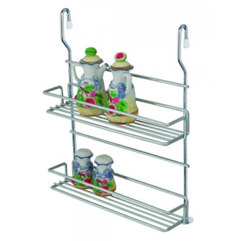 Suport bucatarie, pentru recipiente condimente, 4011, metal, 32 x 10 x 40 cm