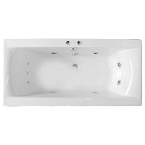Cada baie cu hidromasaj rectangulara, Elegancia, masca inclusa, acril, 170 x 85 cm